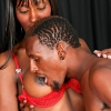 Hot ebony Tgirl gets banged!